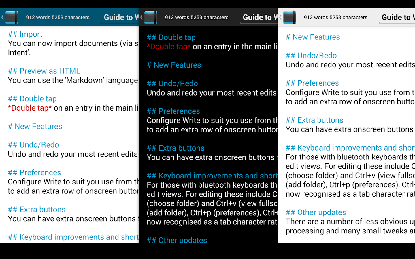 Write: Tablet Notepad/Journal - screenshot