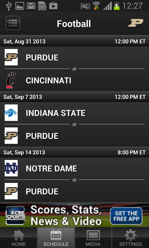 Purdue Boilermakers Sports - screenshot