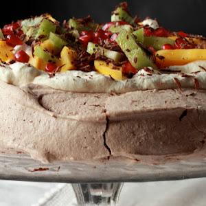 Nigella Lawson's Chocolate Pavlova with Exotic Fruit