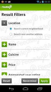 FeedMe (Restaurant finder) - screenshot thumbnail