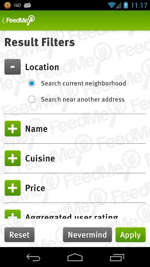 FeedMe (Restaurant finder)- screenshot