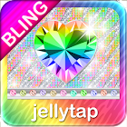 ♦BLING♦Theme Rainbow Zebra SMS icon