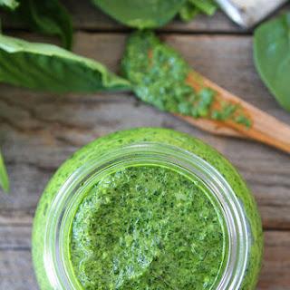Spinach Basil Pesto {Nut-Free}