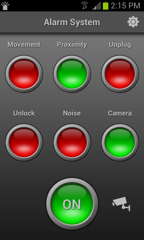 Mobile Alarm System- screenshot