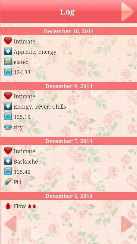 Menstrual Period Tracker - screenshot