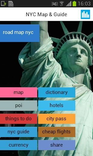 纽约州纽约市离线路线图指南旅行天气和新闻