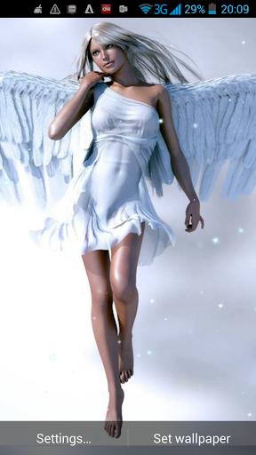 天使動態壁紙