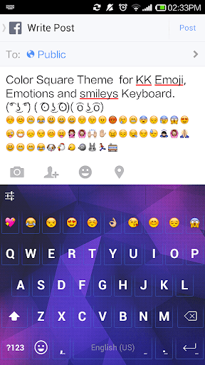 Color Square Emoji Keyboard