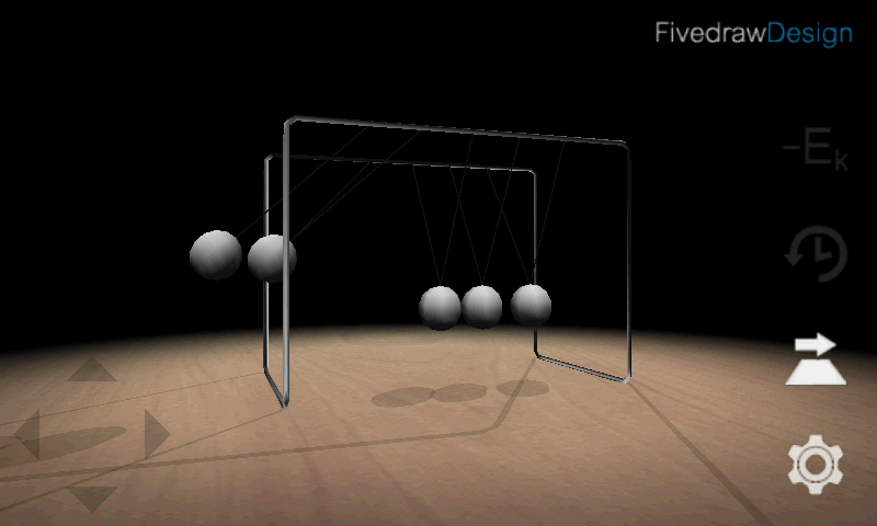 3D Newton's Cradle- screenshot