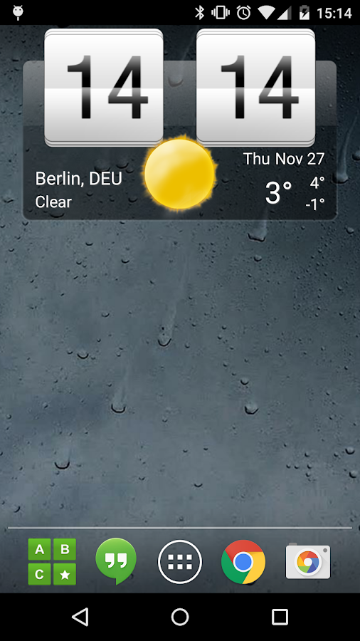 Sense Flip Clock & Weather - screenshot