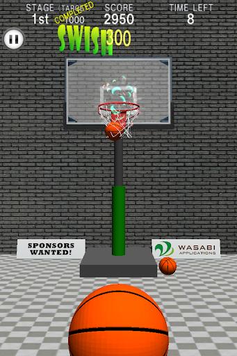 Basketball Swish Shot