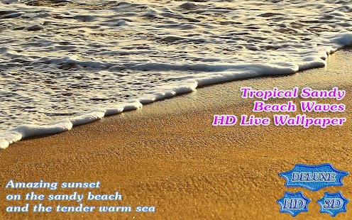 Tropical Sandy Beach Waves HD- screenshot thumbnail