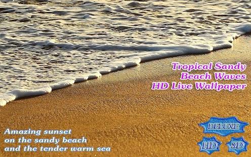 Tropical Sandy Beach Waves HD - náhled