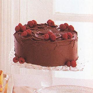 Double Chocolate Raspberry Cake