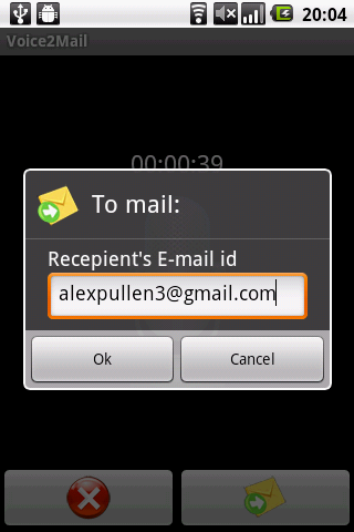 Voice to Email - screenshot