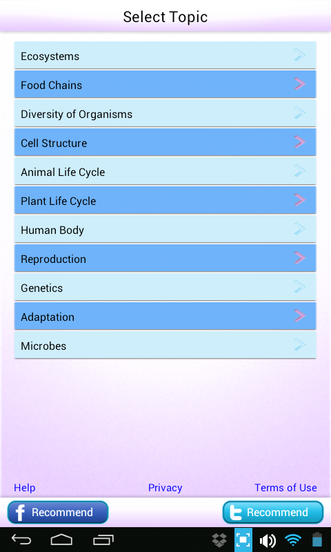 Science Grade 6 7 8 Biology- screenshot