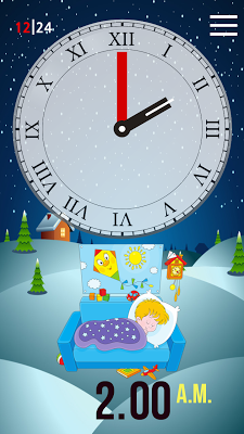 Clock Learning for Kids - screenshot