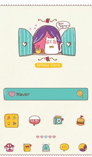 spring day cat dodol theme