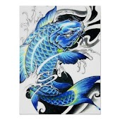 Koi Fish Art HD Wallpaper