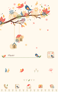 autumn leaves Dodol Theme screenshot 0
