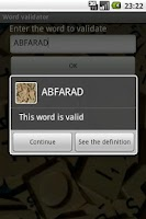 Screenshot of Scrabble Words Finder