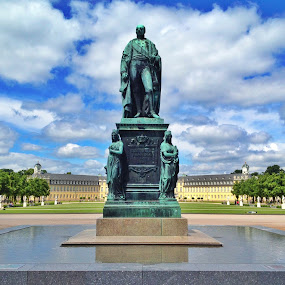 Karlsruhe's Castle by Andy Bond - Buildings & Architecture Statues & Monuments ( bronze, karlsruhe, statue, castle, germany )