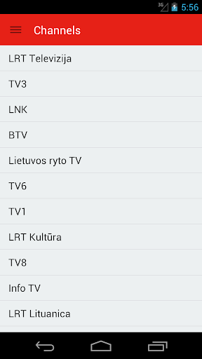 Lithuanian Television Guide
