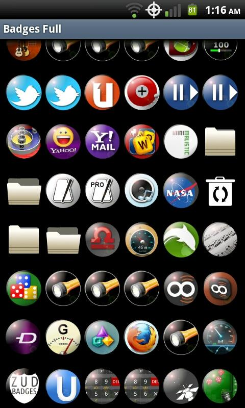 Badges Full Icons - screenshot
