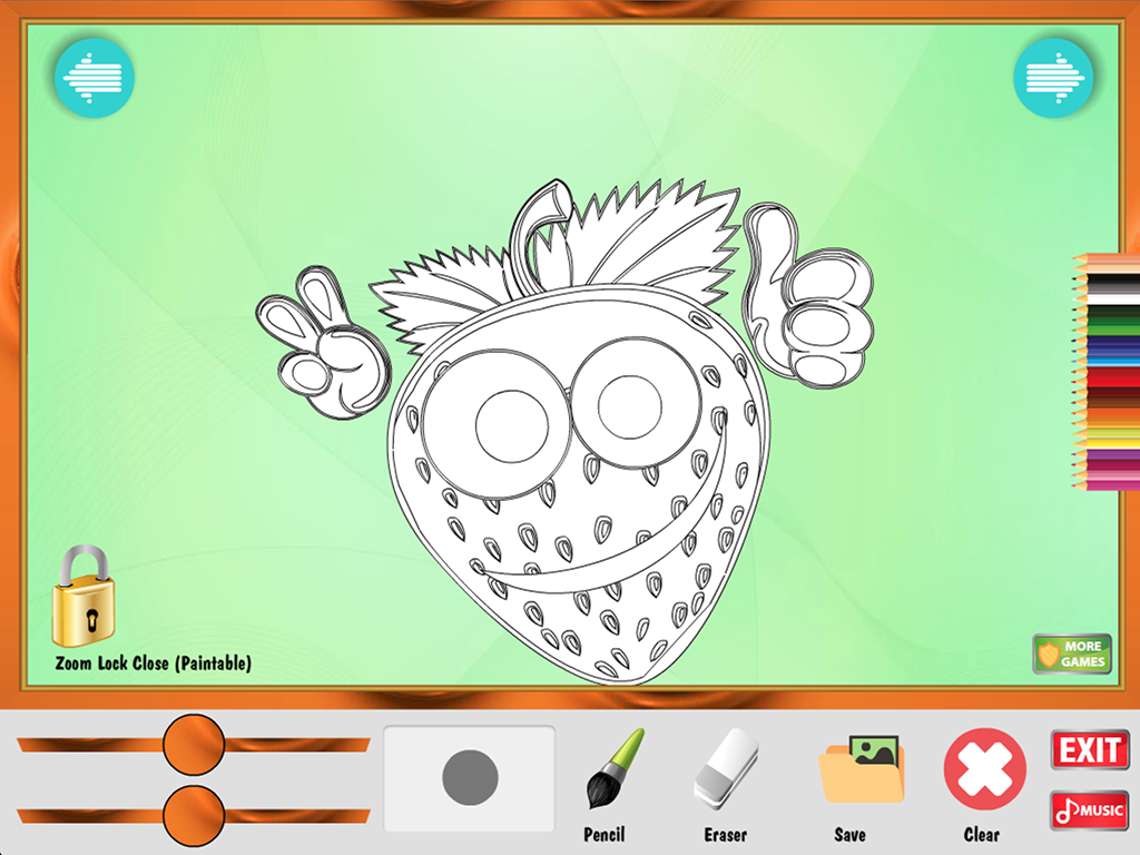 Galerry fruit coloring games online