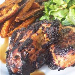 Grilled Caribbean Chicken Breasts.