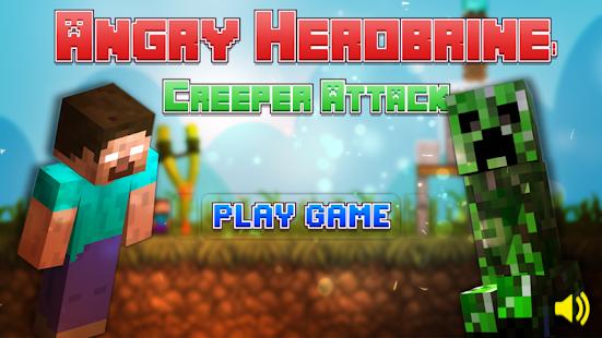 Angry Herobrine Creeper Attack