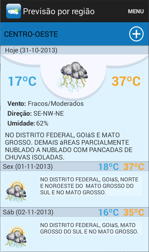 INMET Tempo e Clima- screenshot