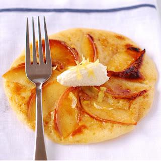 Apple & Cinnamon Pancakes with Lemon Ricotta.