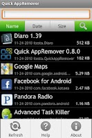 Screenshot of Quick AppRemover