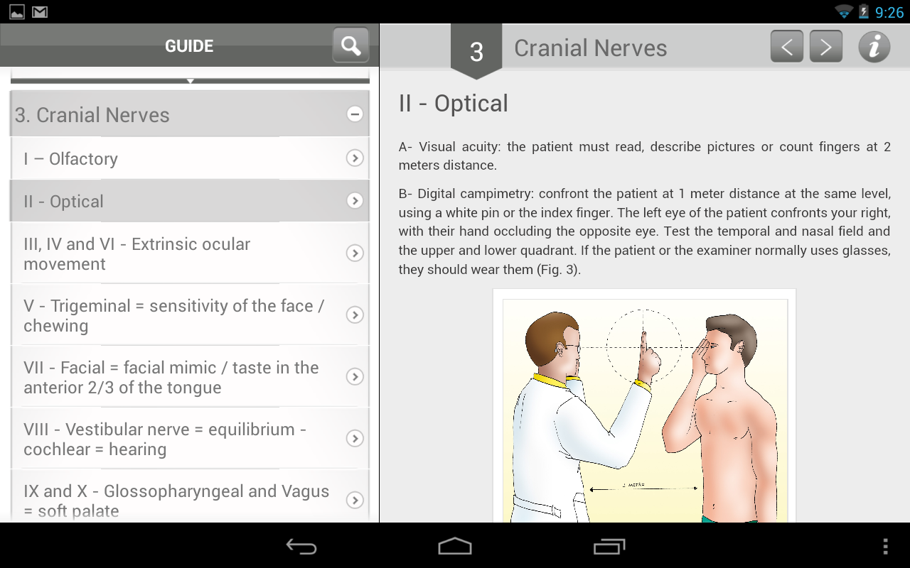 Neuro Exam- screenshot