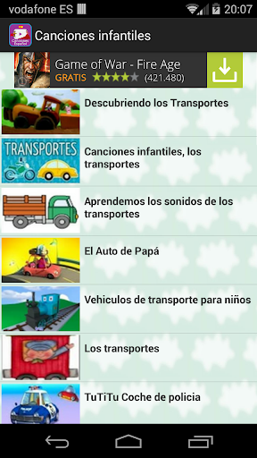 Canciones español para niños