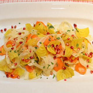 Root Vegetable and Pomegranate Salad