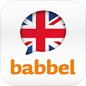 Learn English with babbel.com logo