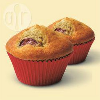 Cherry And Almond Muffins.