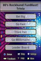 Screenshot of 80's Rockband FunBlast Trivia