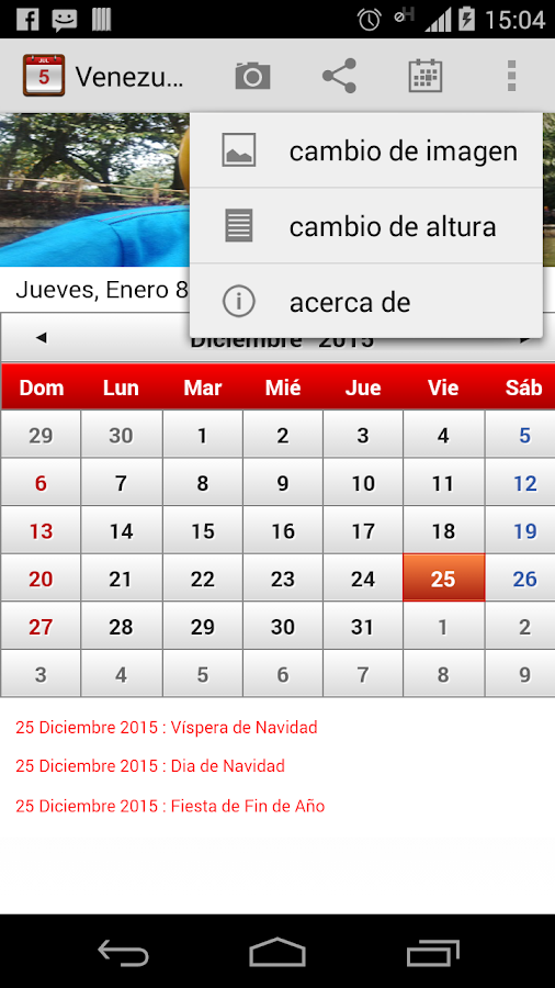 Venezuela Calendario 2015 - screenshot