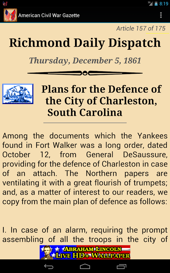 1861 Dec Am Civil War Gazette - screenshot
