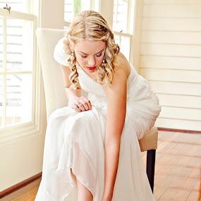 Wedding Shoes by Alan Evans - Wedding Getting Ready ( melbourne wedding photographer, wedding shoes, aj photography, wedding dress, getting ready, gippsland wedding photographer, beautiful bride, bride,  )