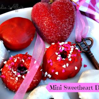 Mini Baked Sweetheart Donuts