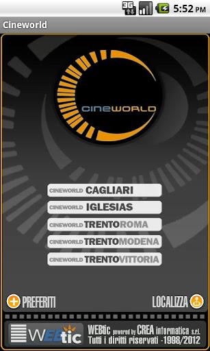 Webtic Cineworld Cinema
