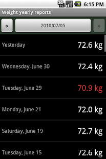 Weight Tracker- screenshot thumbnail
