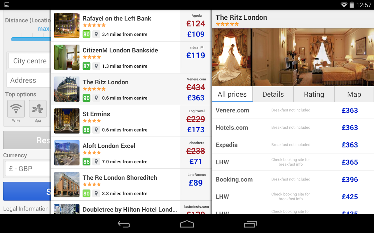 Trivago The Hotel Search Screenshot