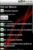 Screenshot of Examen Citoyenneté Canadiene
