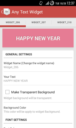 Simple Text Widget Any Text