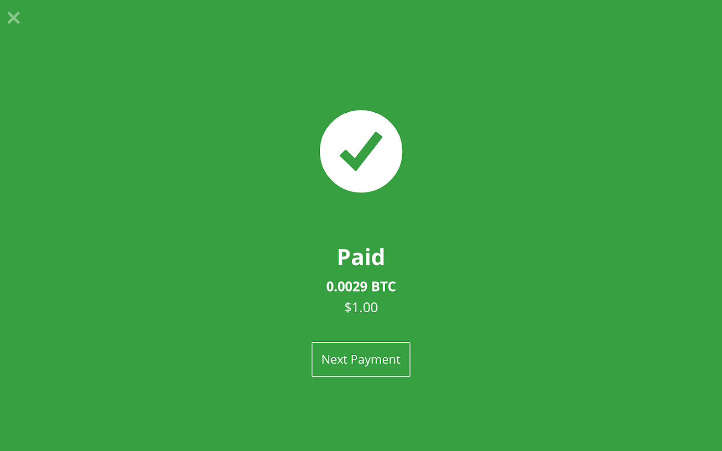 Bitcoin Checkout- screenshot